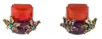 Iradj Moini Multi-Stone Clip-On Earrings