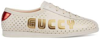 Gucci Women's Guccy-Print Leather Sneakers