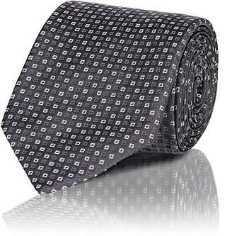 Cifonelli Men's Mini-Square Silk Necktie