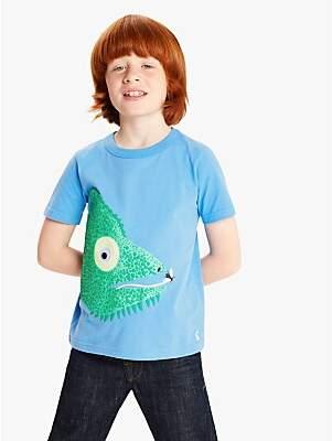 Joules Little Joule Boys' Chameleon Applique T-Shirt, Blue