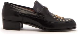 Gucci High Loomis NY Yankees leather loafers