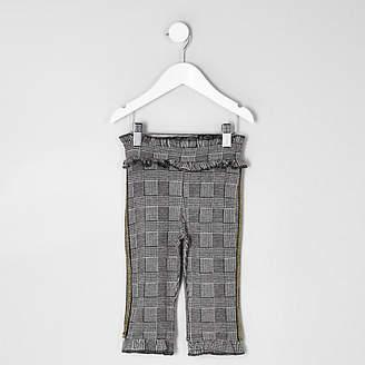 River Island Mini girls grey check trouser