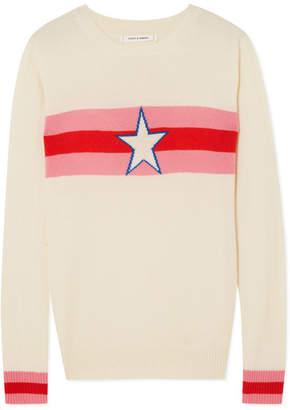Chinti and Parker Star Crossed Intarsia Cashmere Sweater - Cream