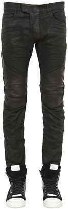 17cm Biker Coated Cotton Denim Jeans $1,950 thestylecure.com