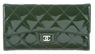 Chanel Patent Quilted CC Wallet