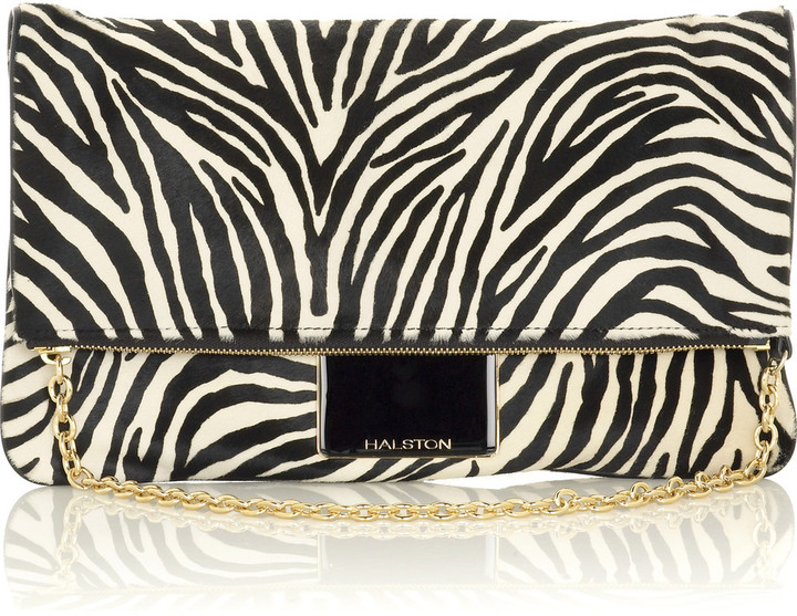 Halston Maxine medium clutch