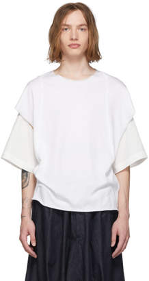 BED J.W. FORD White Cut-Sew T-Shirt