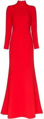 Rebecca De Ravenel high-neck gown