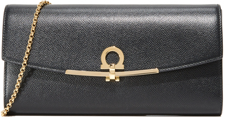 Salvatore Ferragamo Gancino Clip Mini Shoulder Bag $860 thestylecure.com