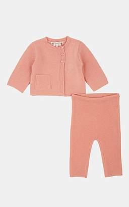 c9a20585022 Bonpoint Infants  Contrast-Knit Cashmere Cardigan   Pants - Pink