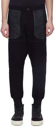 Taverniti So Ben Unravel Project Contrast panel drop crotch jogging pants