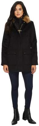 Ellen Tracy Faux Wool Twill Coat Women's Coat