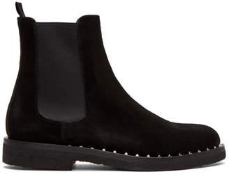 Valentino Black Garavani Suede Soul Rockstud Chelsea Boots