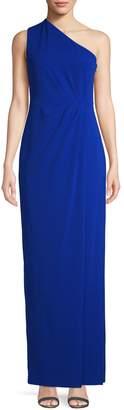 Calvin Klein One-Shoulder Column Gown