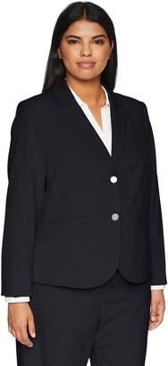 Calvin Klein Women's Plus Size Lux Two Button Jacket