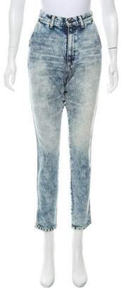 Bassike Acid-Wash High-Rise Skinny Jeans