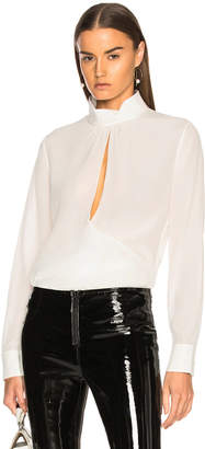 Chloé Crepe de Chine Keyhole Blouse