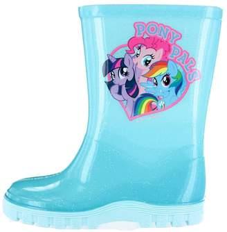My Little Pony Lorianne Aqua & Pink Rubber Wellington Boots Girls UK Infant Size 9