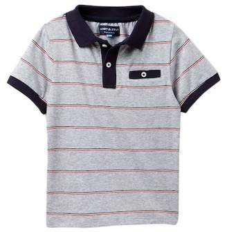 Andy & Evan Stripe Polo Tee (Toddler & Little Boys)