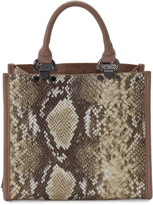 Like Dreams Snakeskin-Embossed Box Tote