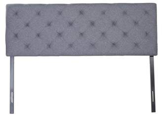 Pinty Antique Full Size Upholstered Headboard w/ Steel Leg Fabric Diamond Pattern