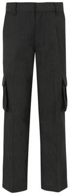 George Boys Grey School Cargo Trousers