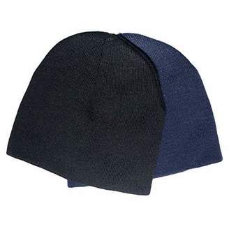 accsa Men's Winter Knite Beanie 2 Pack Black and One Size