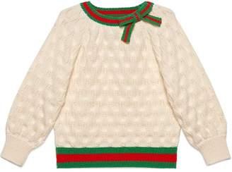 Gucci Kids Children's fan wool sweater