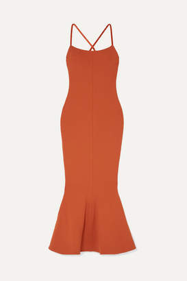 SOLACE London Verla Stretch-crepe Midi Dress