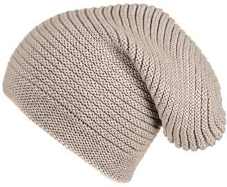 f07a6f617fb Black Light Taupe Cashmere Slouch Beanie Hat