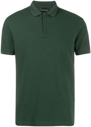 Emporio Armani concealed front polo shirt