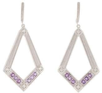Jude Frances Amethyst & Topaz Drop Earrings