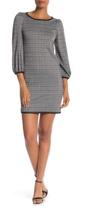 Max Studio Plaid 3/4 Sleeve Dress