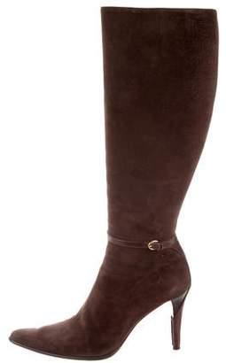 Ralph Lauren Suede Knee-High Boots