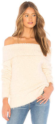 MinkPink Teacup Off Shoulder Sweater