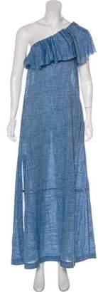 Lisa Marie Fernandez One-Shoulder Maxi Dress