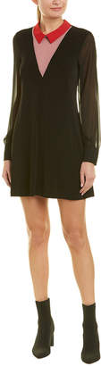 BCBGeneration Contrast Collar Shift Dress