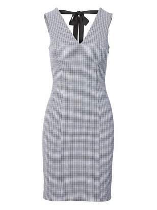 Banana Republic Check Tie-Back Sheath Dress