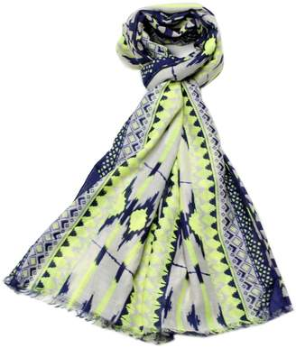 Violet Del Mar Navy Green Scarf