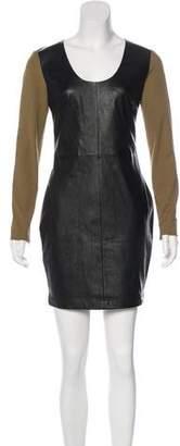 Robert Rodriguez Leather Mini Dress w/ Tags