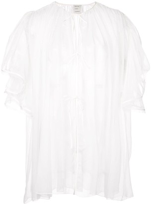 Maison Rabih Kayrouz ruffle sleeves sheer top
