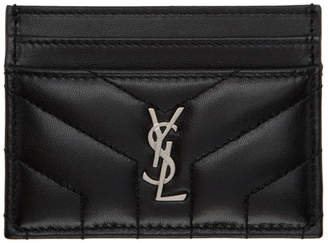 Saint Laurent Black Loulou Card Holder