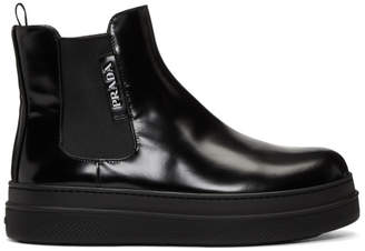 Prada Black Formal Double Sole Chelsea Boots