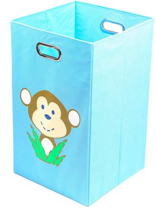 Nuby Monkey Light Blue Folding Laundry Bin