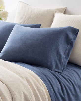 Pine Cone Hill Chambray Flannel Full Sheet Set, Blue