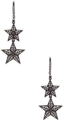 Lynn Ban Double Pave Star Earrings