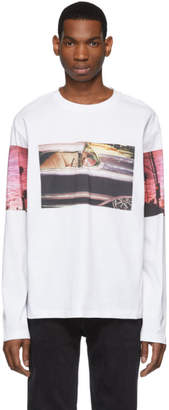 Calvin Klein Jeans Est. 1978 White Environmental Communications Graphic Long Sleeve T-Shirt