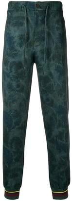 Etro floral print track pants