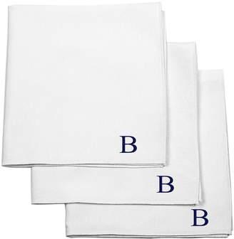 Cathy's Concepts Set of 3 Monogram Cotton Pocket Squares