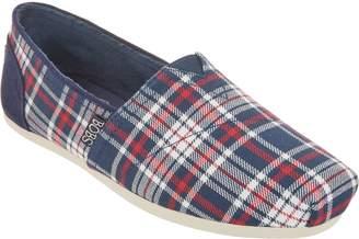 Skechers BOBS Plaid Slip-On Shoes - Plush